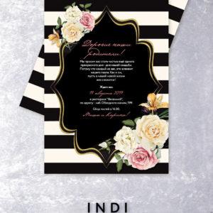 Приглашение на свадьбу в стиле арт-деко